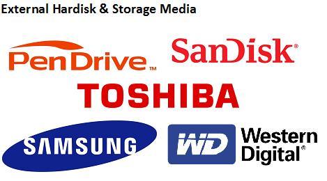 External Hardisk and Storage Media