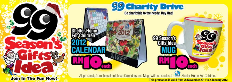 99 Season's Gifts Idea 2011 Charity